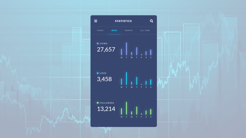 Statistics Dashboard Mobile App