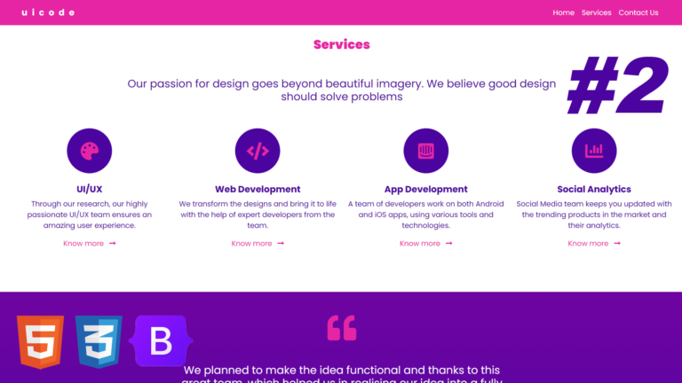 One Page Responsive Website | Convert UI Design to HTML, CSS Using Bootstrap 5 | Multipurpose – #2